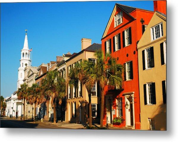 Charleston Painted Row Metal Print