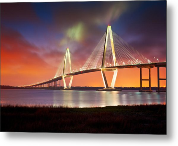 Charleston Sc - Arthur Ravenel Jr. Bridge Cooper River Metal Print