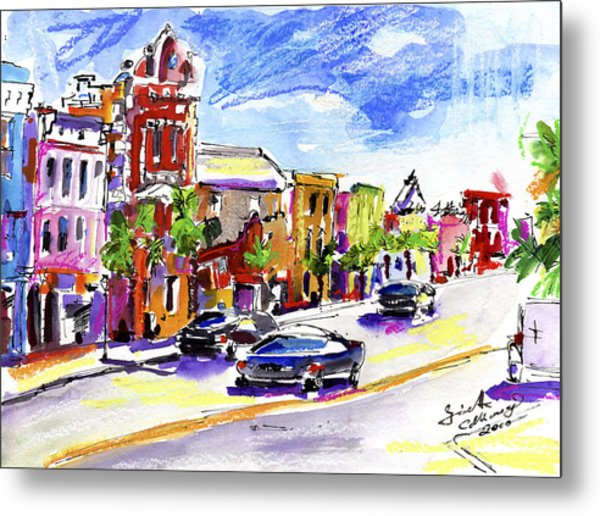 Charleston South Carolina Kind Street Metal Print