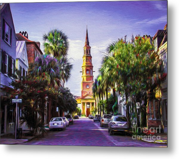 Charleston South Carolina St Philips Church Metal Print