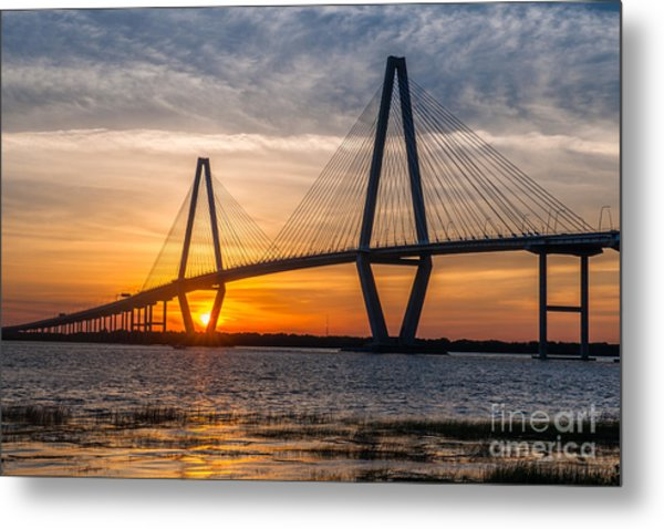 Charleston Sun Setting  Metal Print