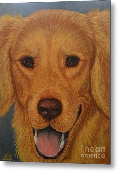 Charlie Golden Metal Print