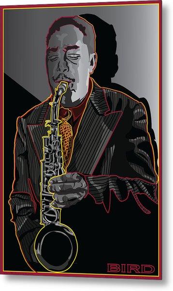 Charlie Parker Jazz  Saxophone Legend Metal Print by Larry Butterworth