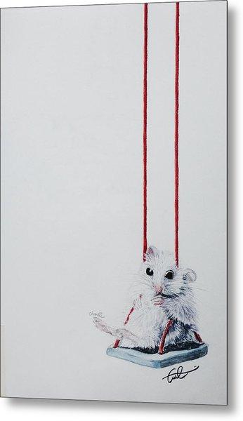 Charlie The Mouse Metal Print
