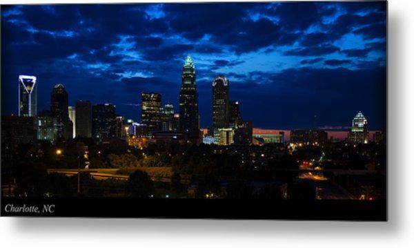 Charlotte North Carolina Panoramic Image Metal Print