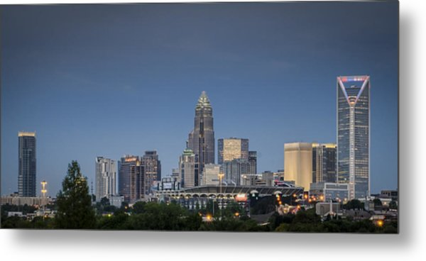 Charlotte Skyline - Clear Evening Metal Print