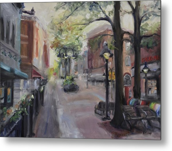 Charlottesville's Historic Downtown Mall Metal Print