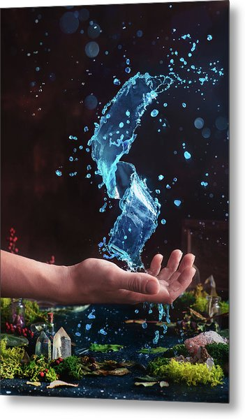 Charm Of Clear Water Metal Print