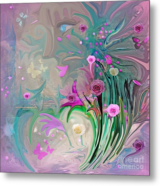Charm Of The Garden Metal Print