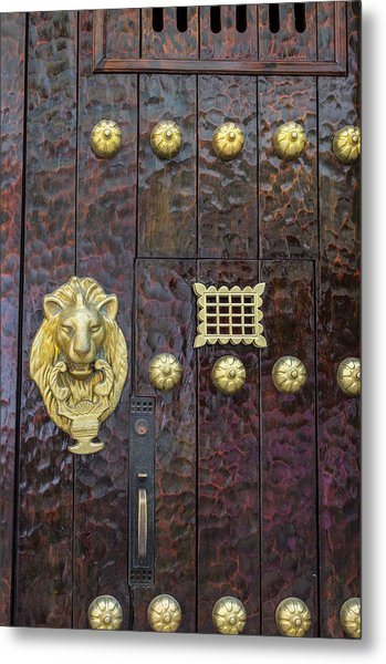 Charming Entry Door, Cartagena, Colombia Metal Print by Jerry Ginsberg