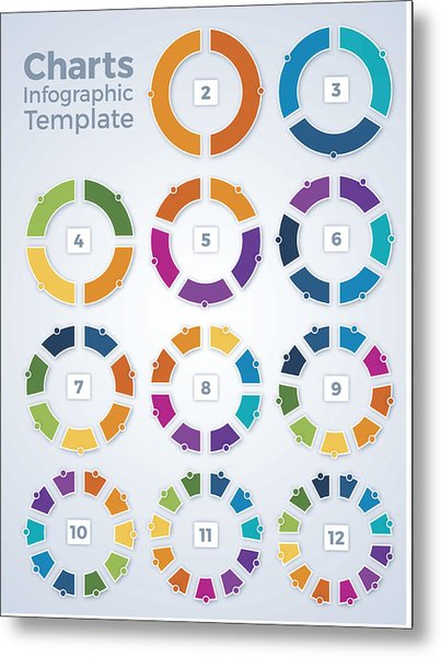 Charts Infographic Template Graphs Metal Print by Filo