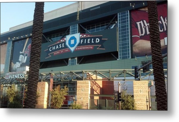 Chase Field Metal Print