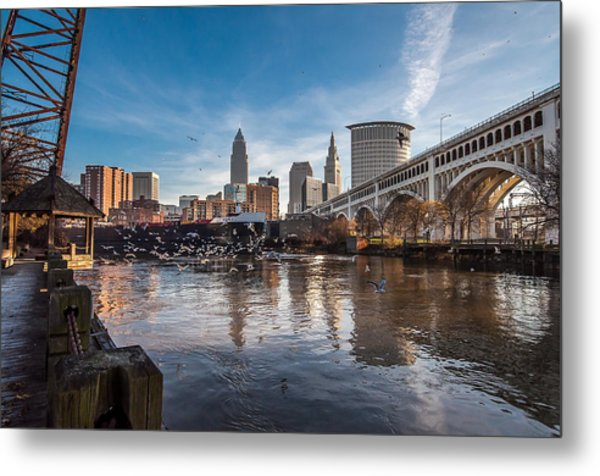 Chasing A Freighter 7 Metal Print