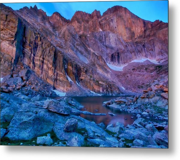 Chasm Lake Gold Metal Print