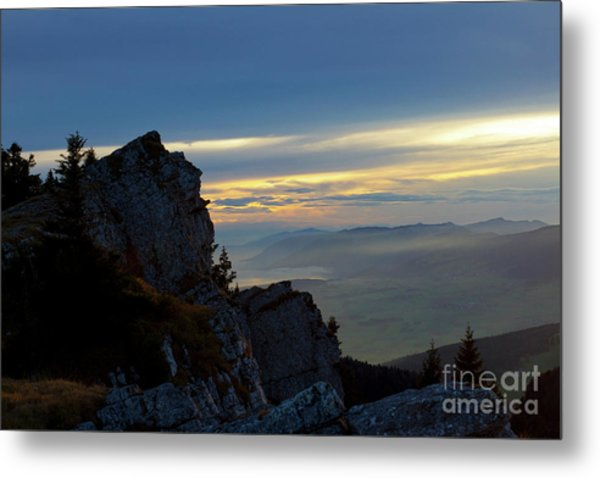 Chasseral Overlook Metal Print