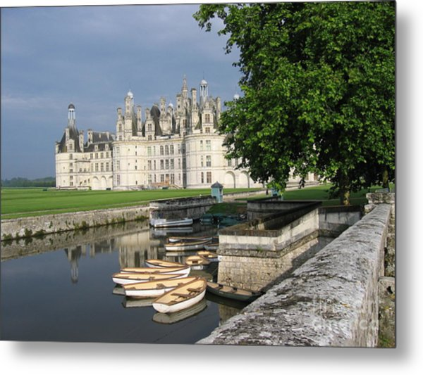 Chateau Chambord Boating Metal Print