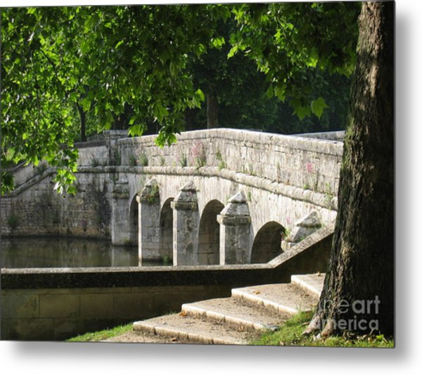 Chateau Chambord Bridge Metal Print