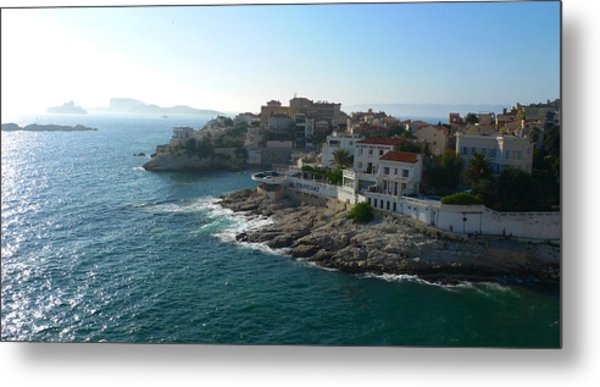 Chateau D'if Bay Of Marseille Metal Print