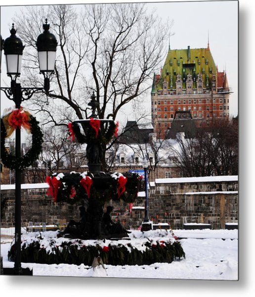 Chateau Frontenac - Holiday Metal Print by Jacqueline M Lewis