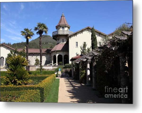 Chateau St. Jean Winery 5d22199 Metal Print by Wingsdomain Art and Photography