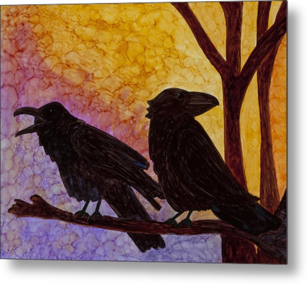 Chatter What Metal Print by Jennifer Fielder