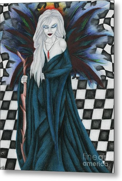 Checkerboard Sorcery Metal Print by Coriander  Shea