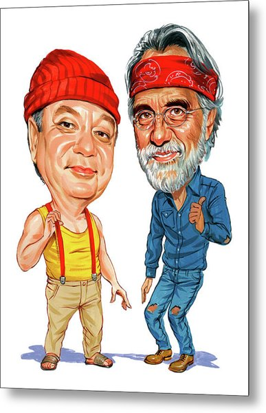 Cheech Marin And Tommy Chong As Cheech And Chong Metal Print