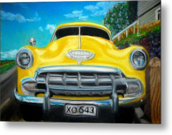 Cheerful Chevy Metal Print