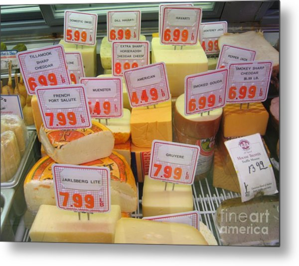 Cheese Display Metal Print