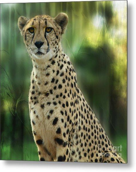 Cheetah Spots Metal Print