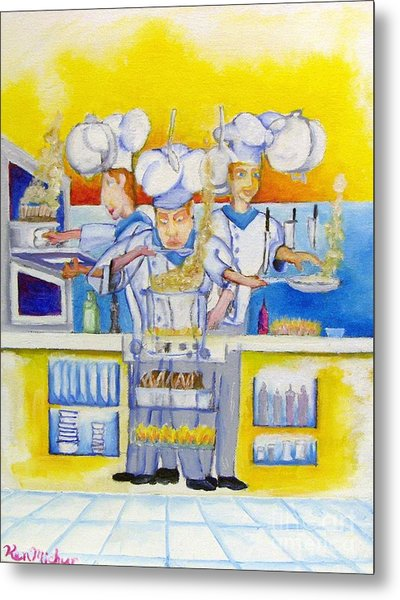 Chef's Kitchen Metal Print by Kenneth Michur