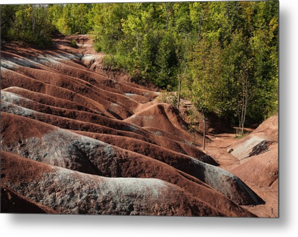 Mars On Earth - Cheltenham Badlands Ontario Canada Metal Print