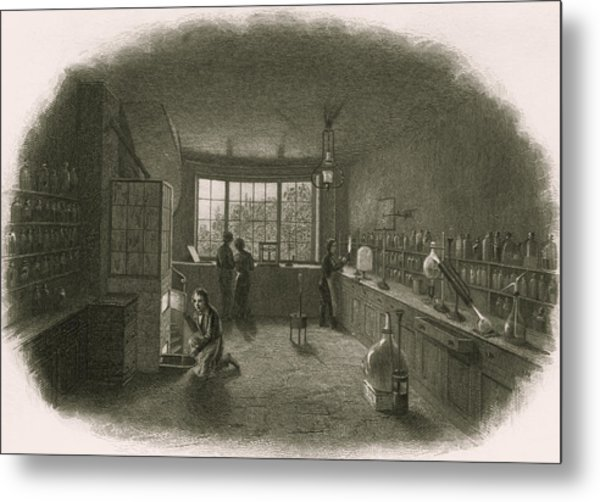 Chemistry Laboratory Metal Print by Sheila Terry/science Photo Library
