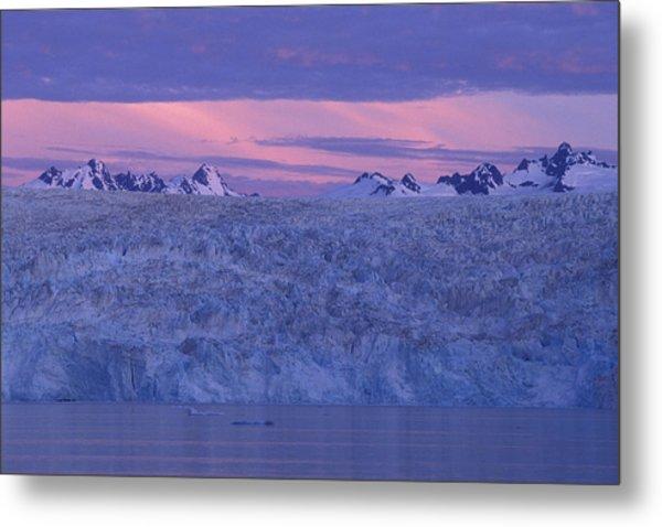 Chenega Glacier At Sunrise Metal Print by Tim Grams