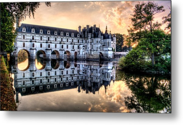 Chenonceau Sunset Metal Print
