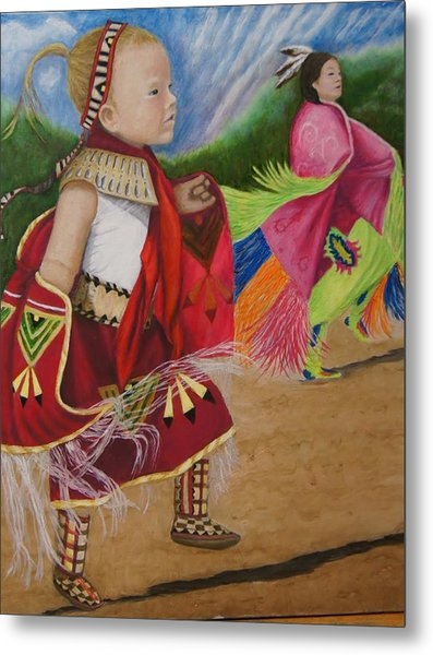 Cherokee Ribbon Dancers Metal Print