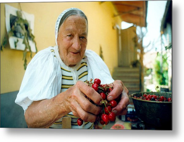 Cherries For Sale Metal Print