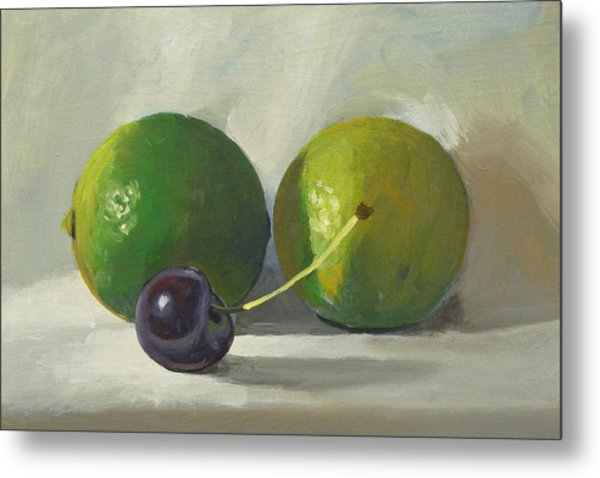 Cherry And Limes Metal Print by Peter Orrock