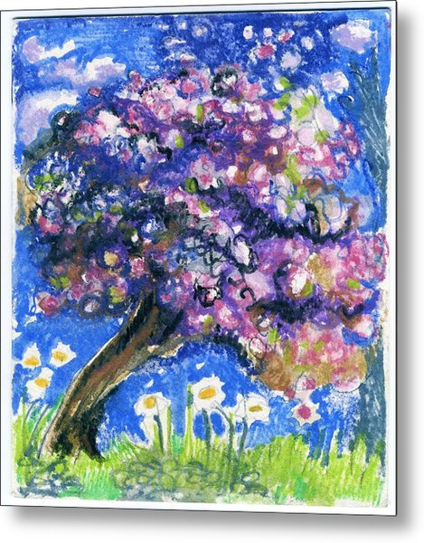 Cherry Blossom Spring. Metal Print