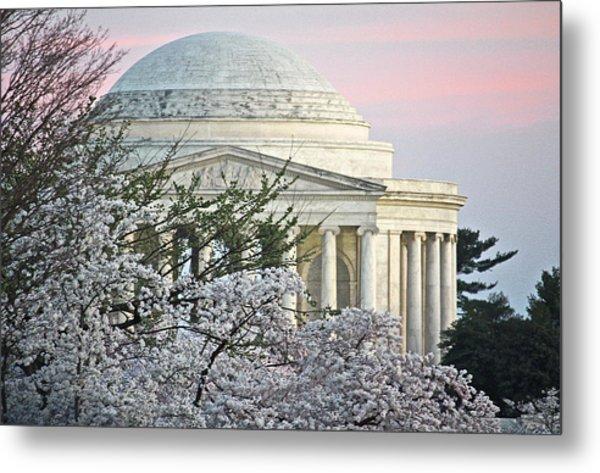 Cherry Blossom Sunset Metal Print