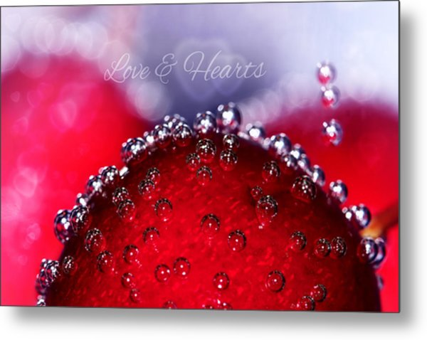 Cherry Fizz Hearts With Love Metal Print