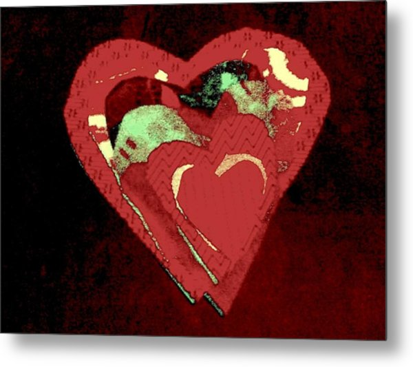 Cherry-hug Metal Print by Dorothy Rafferty