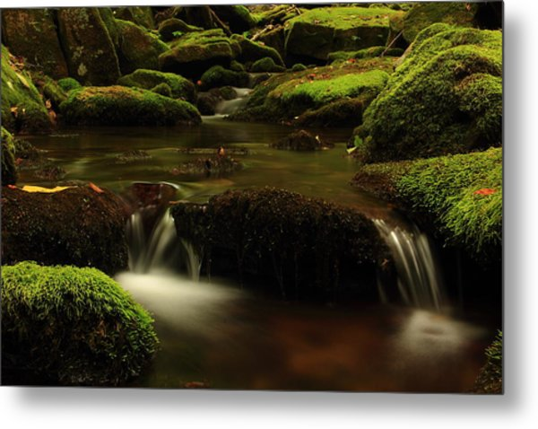 Cherry Run Grotto Metal Print by Cody Arnold