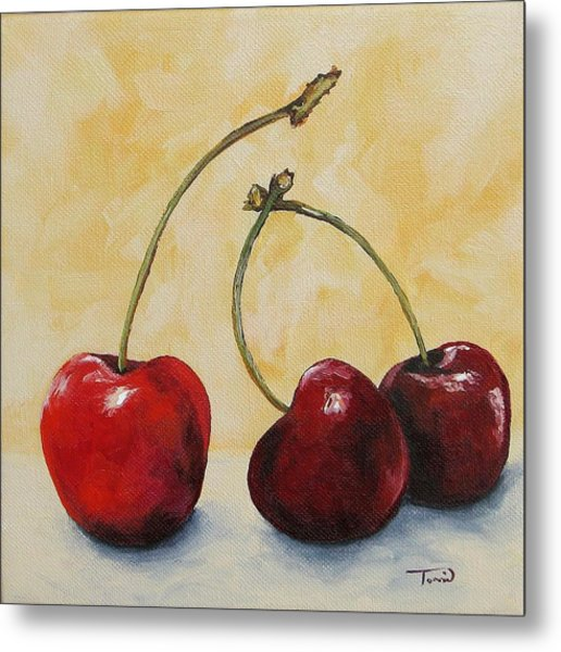 Cherry Trio Metal Print