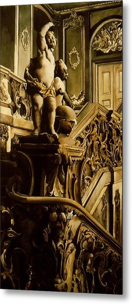 Cherubs On The Stairs Metal Print by Alfred Ng