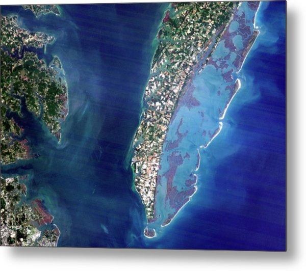 Chesapeake Bay Crater Metal Print