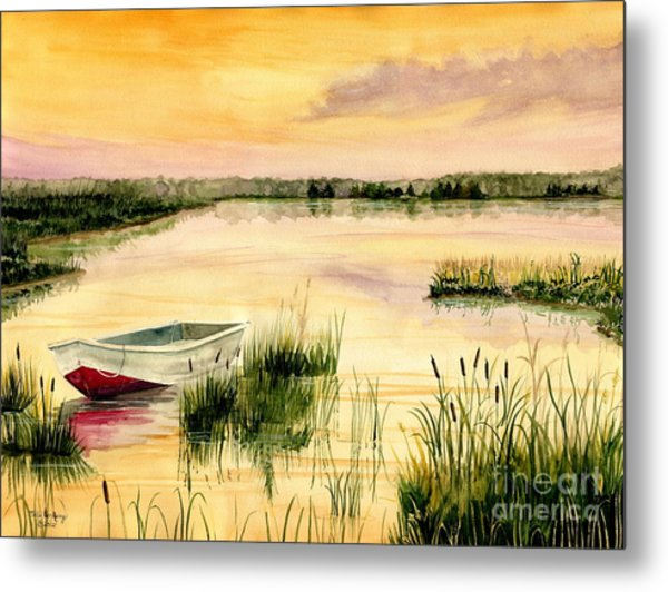 Chesapeake Marsh Metal Print