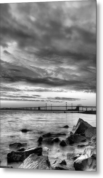 Chesapeake Mornings Bw Metal Print