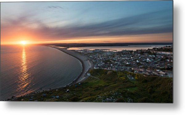 Chesil Beach Sunset  Metal Print by Ollie Taylor