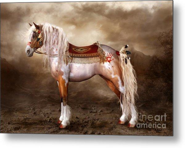 Cheveyo Native American Spirit Horse Metal Print